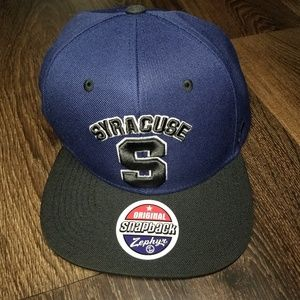 Zephyr Black Blue Syracuse Snap back hat